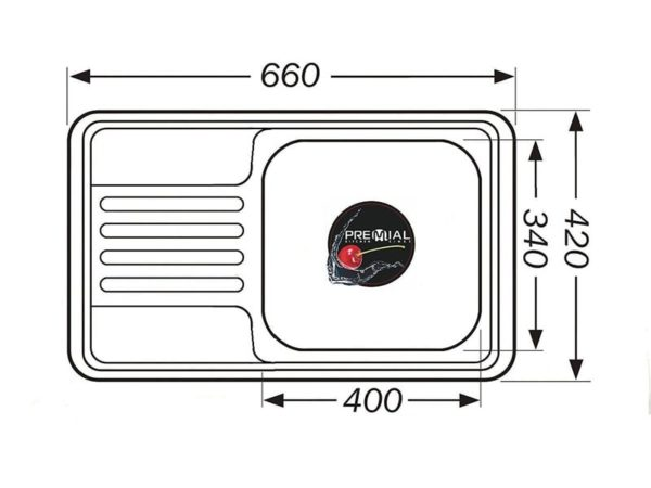 Кухонная мойка PREMIAL PL 6642