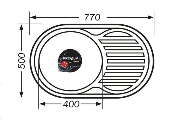 Кухонная мойка PREMIAL PL 7750