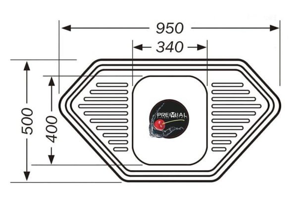 Кухонная мойка PREMIAL PL 9550B