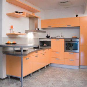 Кухня из пластика Георгин