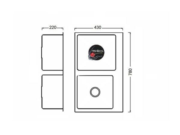 Кухонная мойка PREMIAL PR 7843