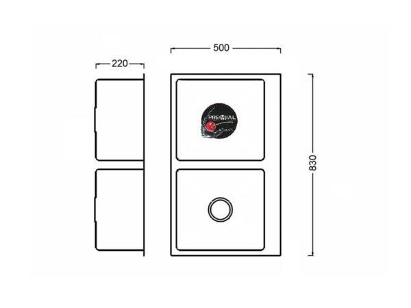 Кухонная мойка PREMIAL PR 8350